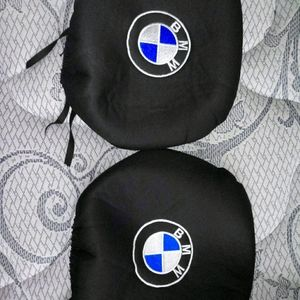 2 Bmw Stretchable Head Rest Covers